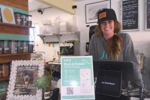 Chelsea Brescia, a Pismo Beach merchant affiliate with Kick-It Points.