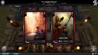 Mi oponente también tiene algunas cartas de la Flame Dawn pero intento que no pueda jugarlas.