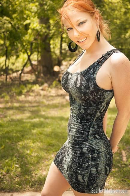 Scarlett Madison vestido cort estampado