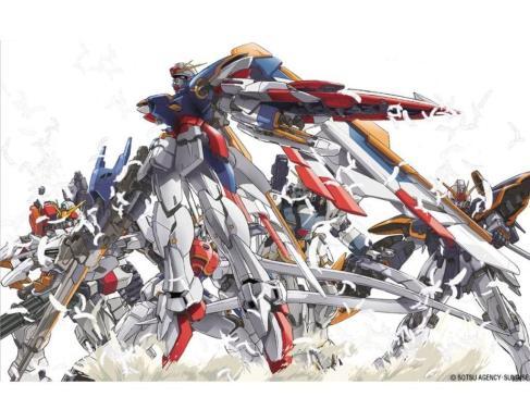 509 - gun gundam_wing mecha mobile_suit_gundam wallpaper white