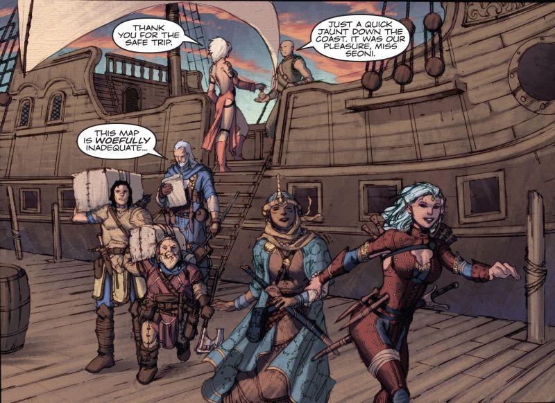 Pathfinder Comics Grupo desembarcando