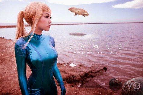 Linda Le Vampy Bit Me Samus Zero Suit