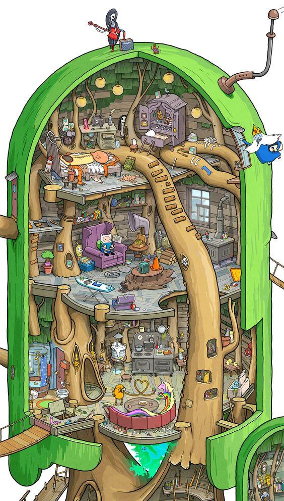El Fuerte en el Árbol de Hora de Aventuras Área Principal