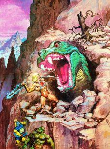 He-Man y los Amos del Universo Combate contra un gran monstruo