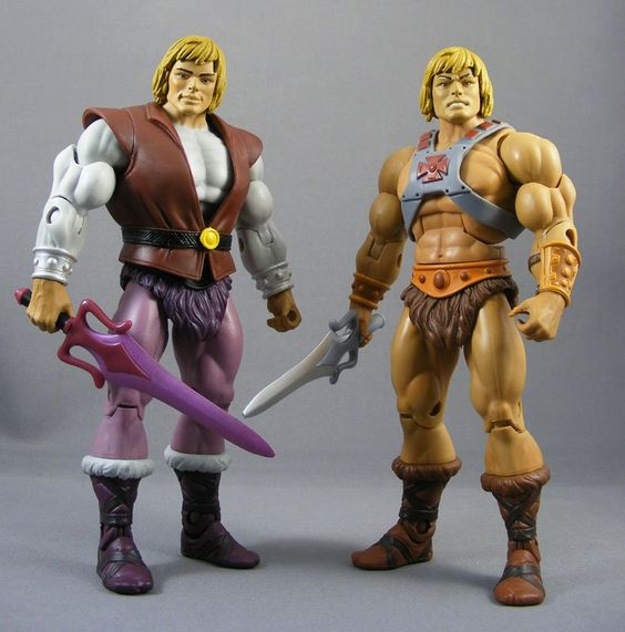 Juguetes de He-Man y los Amos del Universo Principe Adam y He-Man