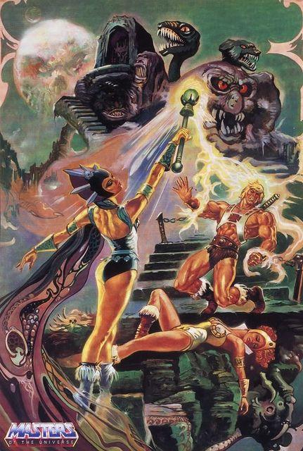 He-Man y los Amos del Universo Combate contra Evil-Lyn