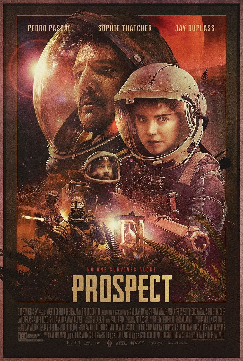 Trailer de Prospect Theatrical poster for Prospect, Copyright © 2018 by Dust (Gunpowder and Sky). All Rights Reserved.