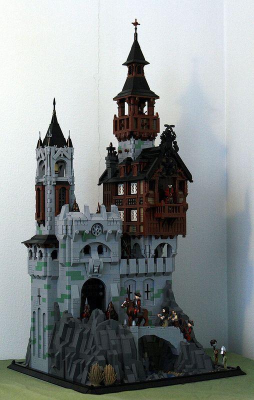 Impresionante escena de un castillo de LEGO