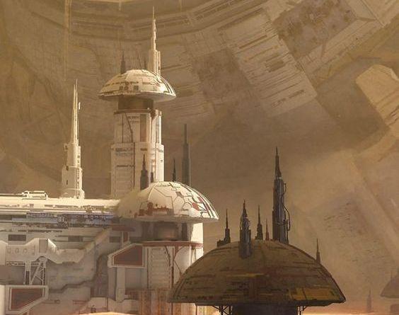 Aaron Limonick - desert structures on lizard homeworld