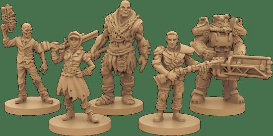 Fallout el juego de mesa miniaturas