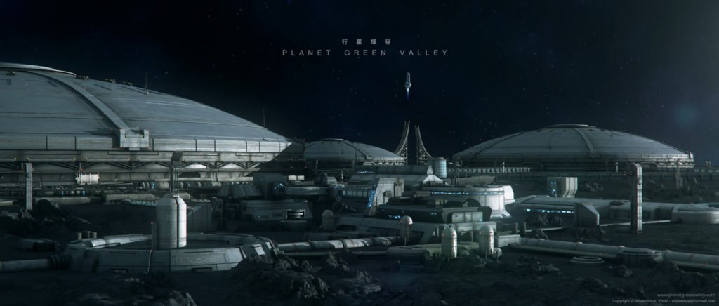wei-weihua-moon-base Planet Green Valley