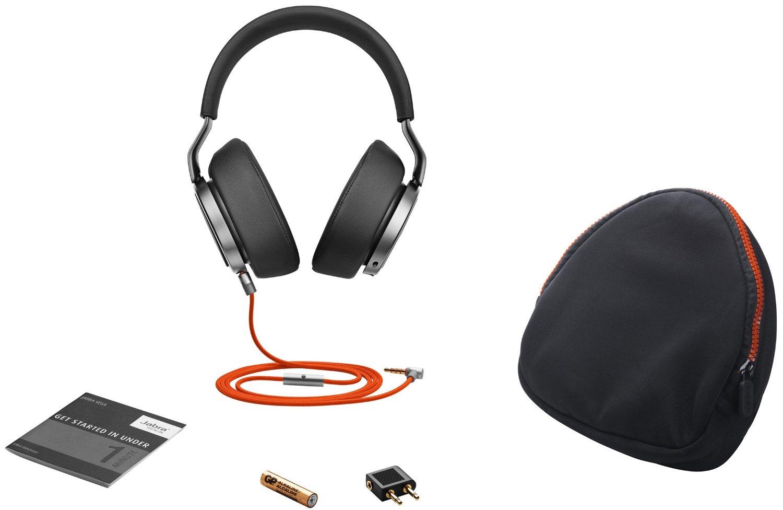 Jabra Evolve 75 MS Wireless Cuffie Stereo, Cuffie Certificate per Microsoft con Batteria a Lunga Durata, Adattatore USB Bluetooth, Nero