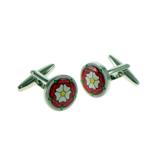 Red Tudor Rose Cufflinks