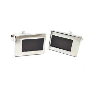 Black & Chrome Classic Cufflinks