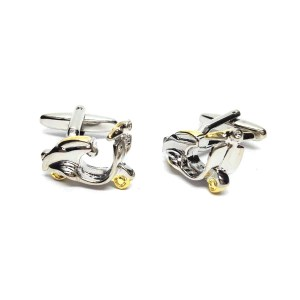 two tone scooter cufflinks