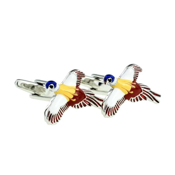 pheasant in flight cufflinks 2