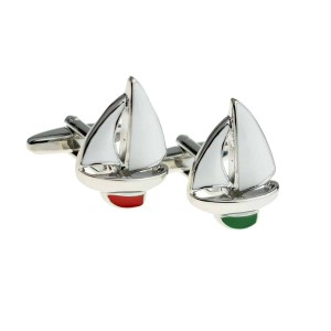 Yacht shaped cufflinks