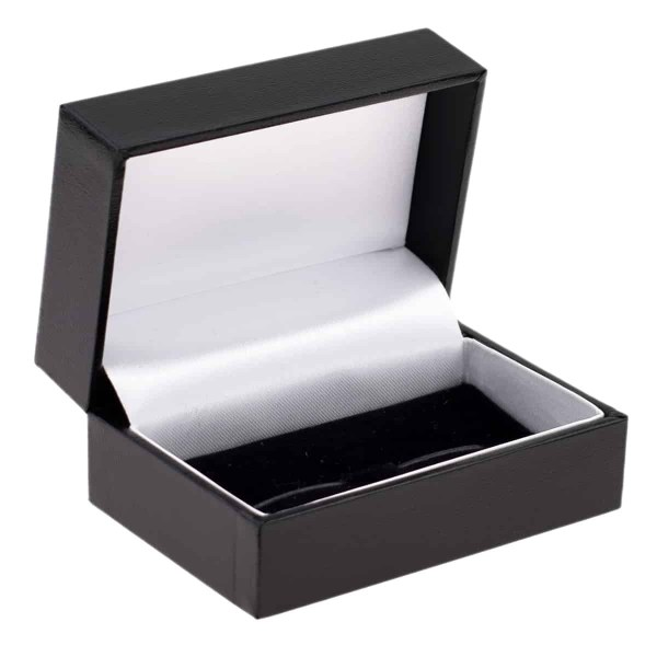 Leatherette black cufflink box