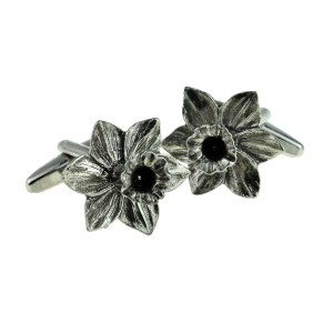 Welsh Daffodil Pewter Cufflinks