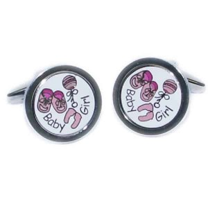 New baby girl cufflinks