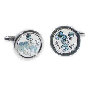 New baby boy cufflinks