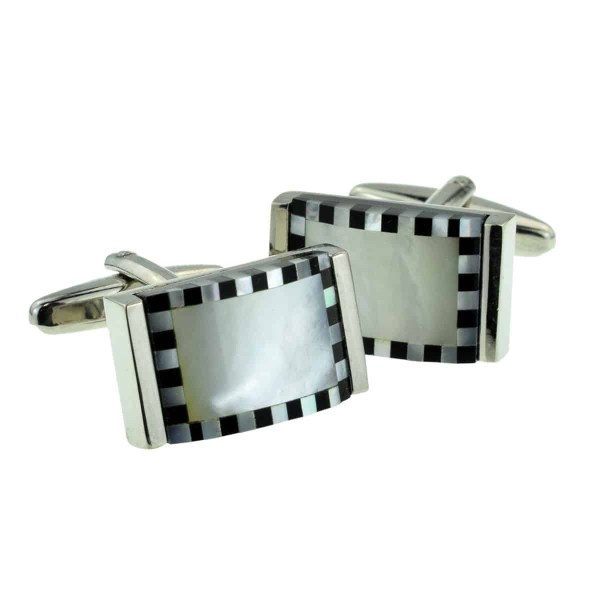 Curved shaped classic cufflinks