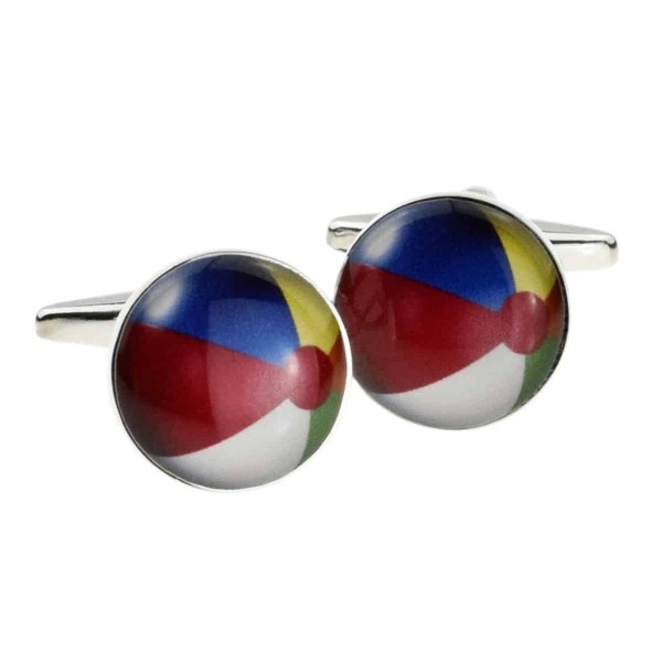 Beach ball shaped cufflinks