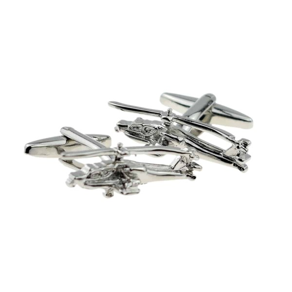 Apache helicopter cufflinks