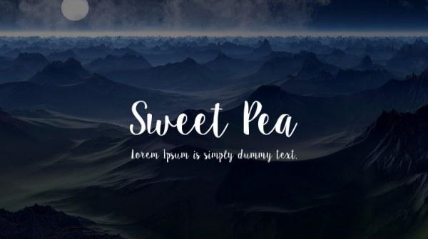 sweet pea font # 19