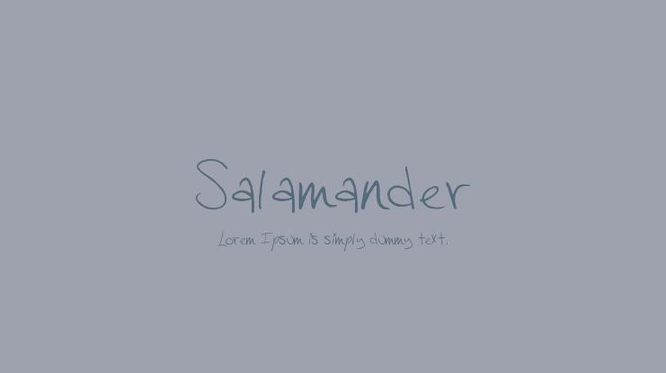 Salamander Font Download Free For Desktop Webfont