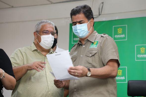 """Prefeitura de Cuiabá   Vanderlúcio comemora inclusão de trabalhadores da limpeza na vacinação: """"Ato de sensibilidade e humanização"""""""