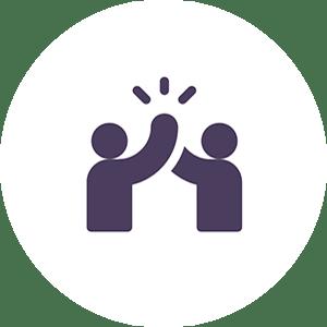 Pictogramme proximité entre Cuidam et les entreprises