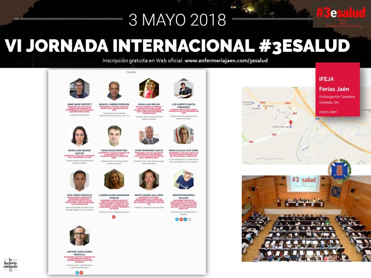 VI Jornada Internacional #3esalud 2018: 3 de Mayo en Jaén