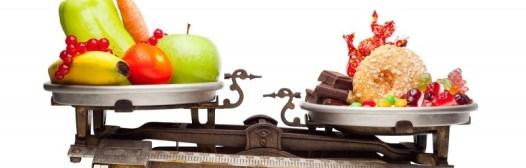 comida sana versus comida-basura