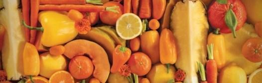 fruta color naranja vitamina a