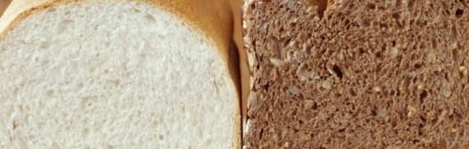 pan blanco e integral