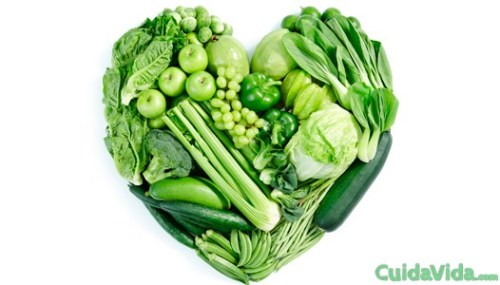 corazon verdura verde
