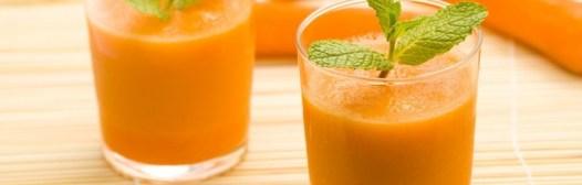 zumo zanahoria menta