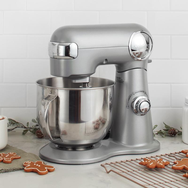 Precision Master 5.5-QT(5.2L) Stand Mixer - Silver - ca-cuisinart
