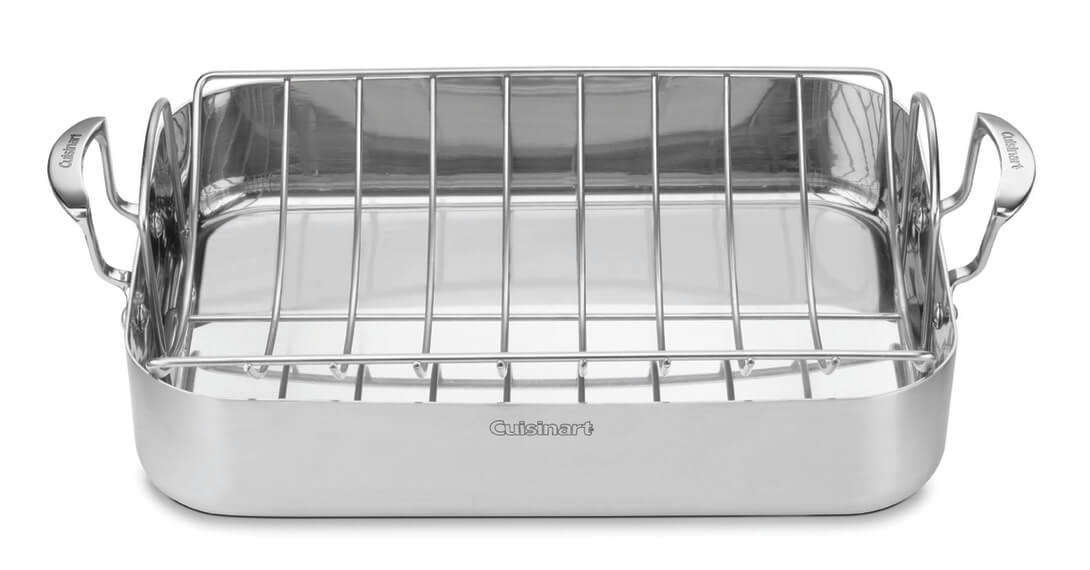 multiclad pro triple ply stainless cookware 16 roasting pan with rack
