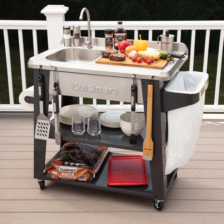 deluxe outdoor prep table