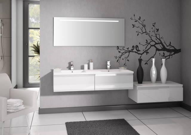 blancs decorent votre salle de bain