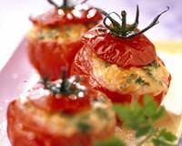 Tomates farcies aux épinards et au chèvre