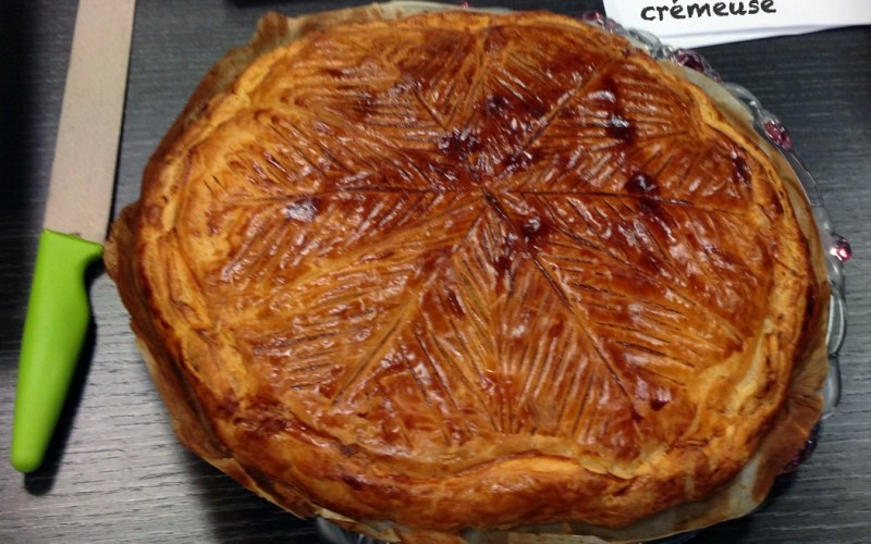 galette des rois - Zebra cake vanille-chocolat (Gâteau zébré / tigré)