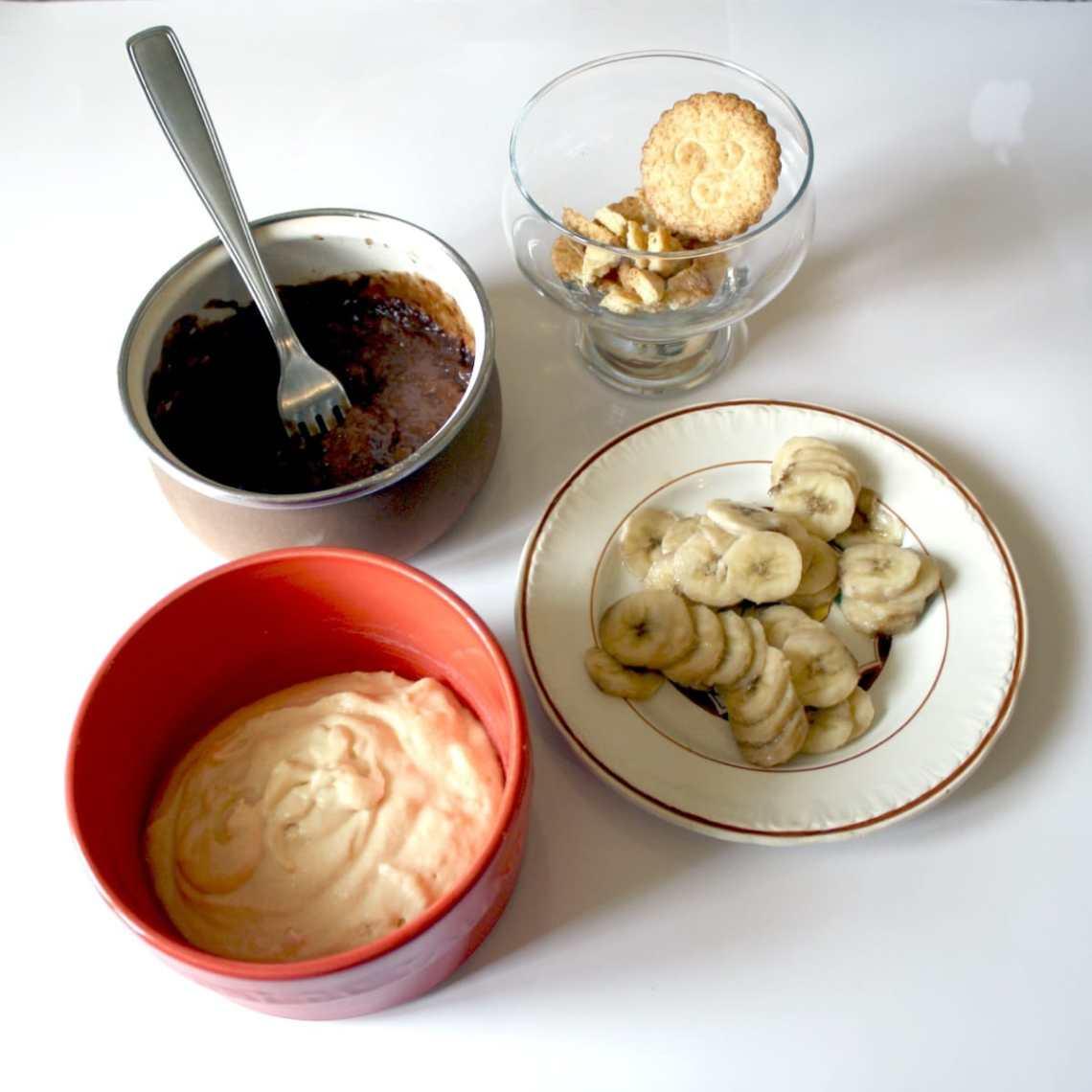tiramisu banane nutella prepa - Tiramisu à la banane et au Nutella