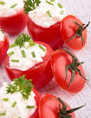 tomates cerises farcies - Mini tomates farcies au chèvre
