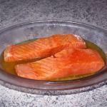 Recette de Pavés de saumon au miel