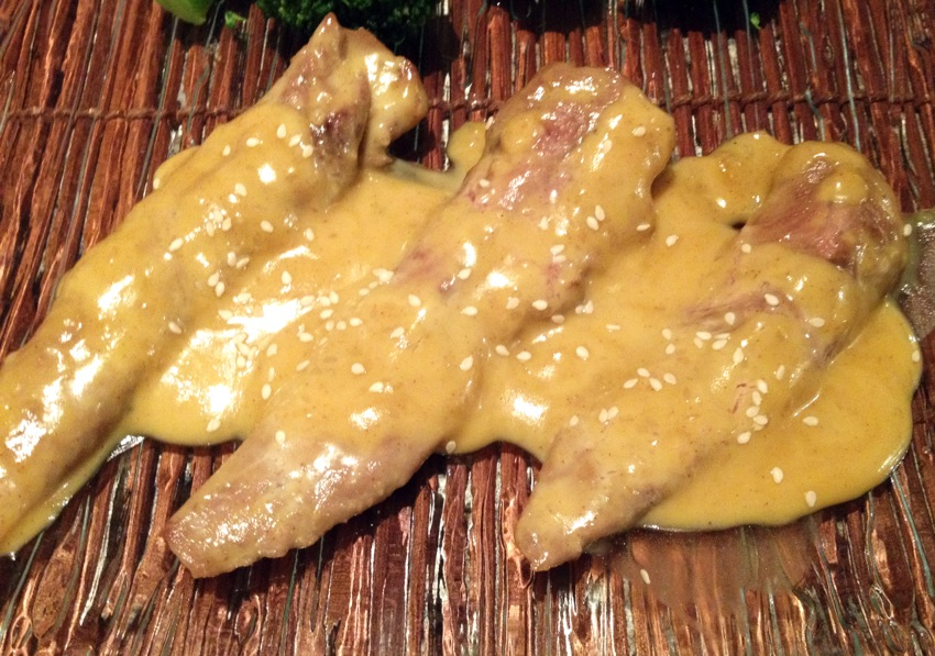 Recette d'Aiguillettes de canard sauce moutarde et miel