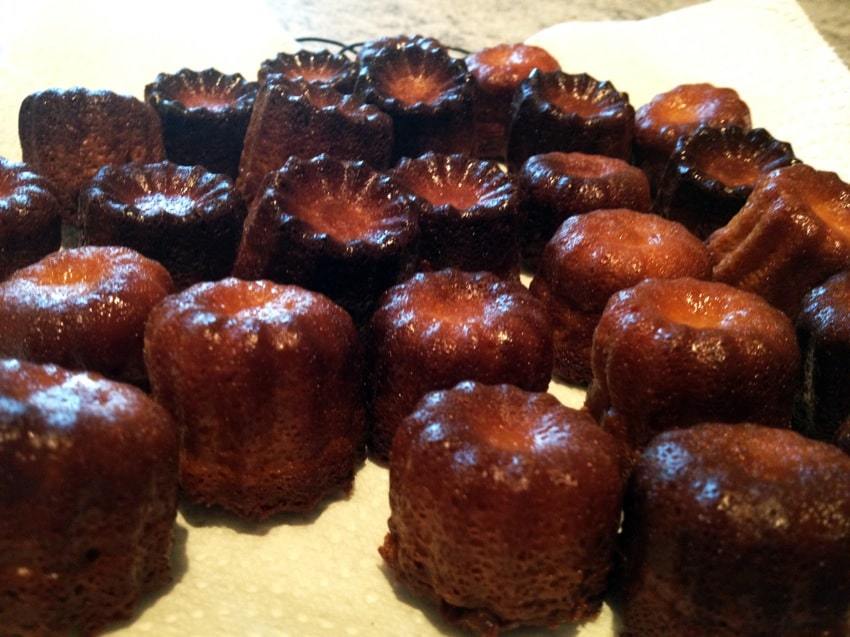 canneles caramel 4 - Mini Cannelés à l'orange