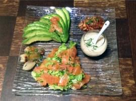 Recette de Salade au saumon fumé et à l'avocat